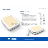 7500 mAh portable stainless-steel power bank for phone