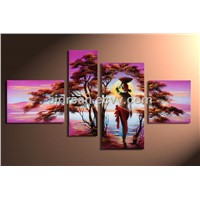 African Canvas Art Landscape Oil Painting