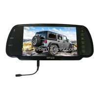 Car Rearview Mirror Monitor 7 inch screen with bluetooth and Mp5