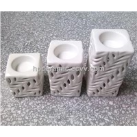 Ceramic Pillar Candle Holder, Candle Stand