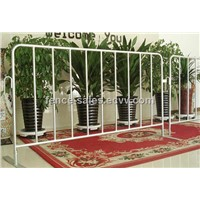 Crowd Control Barricades - Heavy Duty Steel, Flat or Bridged Feet