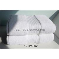 Dobby Border Bath Towel Cotton Hand Towel  Washcloth Hotel Towel (12TW-062)