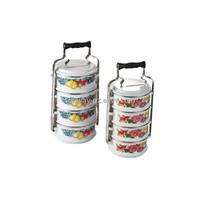 Enamel lunch box enamel food carrier enamel tiffin box