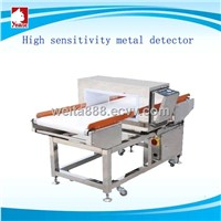 Excellent sensitivity metal detector with conveyor  belt