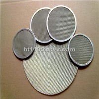 Framed stainless steel wire mesh flake