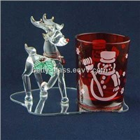 Glass Pen Holder with a Lovely Animal