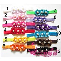Hot sale 12 colors Pearl flower baby hair acceossories in stock
