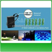 IP67 Waterproof Rechargeable 3S2P 4400mAh 12V Battery Pack