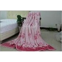 Jacquard polyester coral fleece blanket