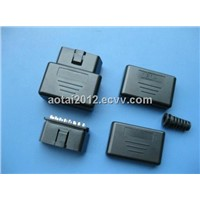 Mini OBD Connector,16pin female obd2 connector,obd case,obd2 enclosure