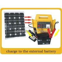 Portable solar generator system