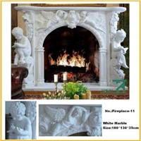 Home Decorate White Figure Fireplace Mantel