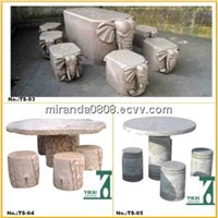Stone Table Bench, Garden Landscaping Furniture