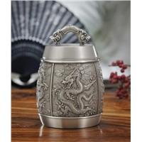 Tea Caddy pure tin