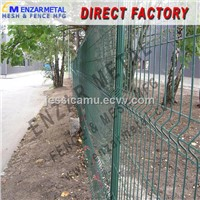Welded Wire Mesh Panel Fence/Powder Coated Welded Panel Fence
