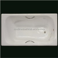 enamel cast iron bathtub