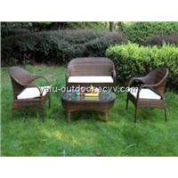 garden wicker furniture set with cussion