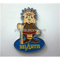 metal badge with soft enamel