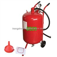 mini red sandblaster pot