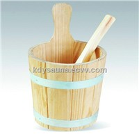 sauna accessories,3L Wooden Sauna spa Bucket with plastic inner (KD-003A)