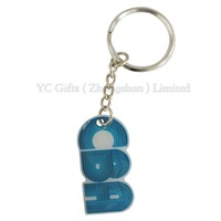 stainless steel letter keyring for company promotion