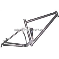 titanium full suspension bicycle frame