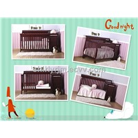 wooden baby convertible crib