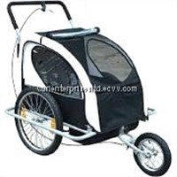 Aosom Elite 5.1cm 1 Double Child Bike Trailer / Jogger - Black / White