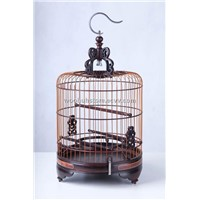 Vintage Chinese Rosewood Bird Cage