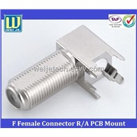 F Female connector Right Angle PCB Mount