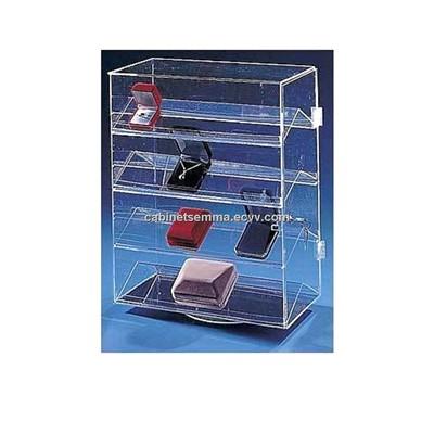 Eyeglasses Frame Display Carrying Showcase : Acrylic Rotating Display Showcase/ Lockable Perspex ...