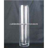 Clear Acrylic Cylinder Vase High Polished Lucite Flower Vase 180*180*380mm