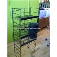 Free Standing Wire Rack 4 Tiers 48cm*34cm*126cm Metal Display Rack-Black