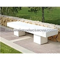 GRC garden table and cement bench