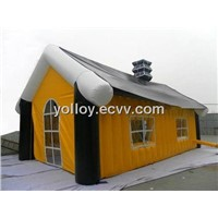 Inflatable Portable House with Chimney European Style House