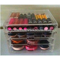 Plexiglass Makeup Box Lipstic Holder Stand Lucite Acrylic Cosmetic Stand Display