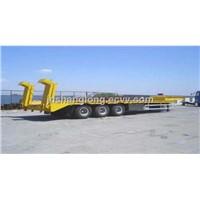 13m 60tons Loading Capacity Low Bed Semitrailer