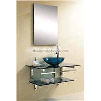 2013 modern glass counter top basin with  (06818)