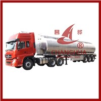 2014 Newest Aluminium Alloy Tanker Trailer for Corrosive Chemicals