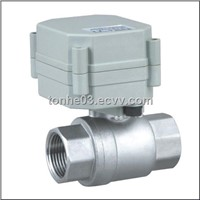 2 way motorized ball valve for  leak dection