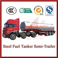 40000L carbon steel liquid oil tanker trailer