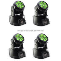 4X LOT 7*10W RGBW 4IN1 LED Moving Head Wash Light, Stage Light