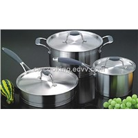 6pc stainless steel straight shape cookware set