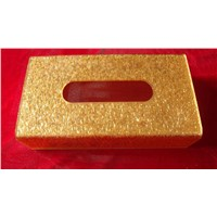 Acrylic tissue box for hotel and home supplies