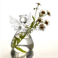 Beautiful Mini Glass Angel Vase Angel Home Decoration Christmas Day Decorative Friend Gift