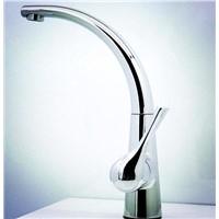 Brass single hole basin faucet
