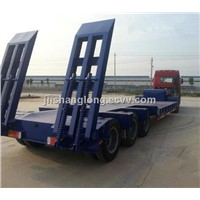 Chinese 3 Axle/Axis Flatbed Truck Semi-Trailer