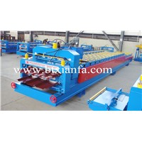Duble ayer steel gazed tile roofig rolling machine