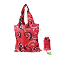Ecosusi Red Large Grocery Eco Folding Tote Reusable Shopping Bag