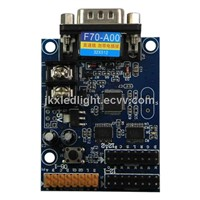 Free Shiping F70-A00 Led display control card&RF232serial port controller card